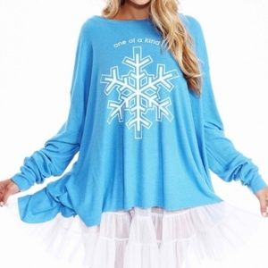 WILDFOX One of a Kind Snowflake Thermal Swing Top